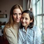 madre e hija adolescente